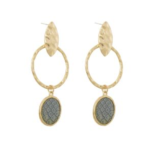 Earrings snake skin