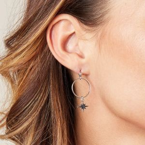 Earrings around space