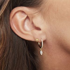 Earrings Zircon Drop