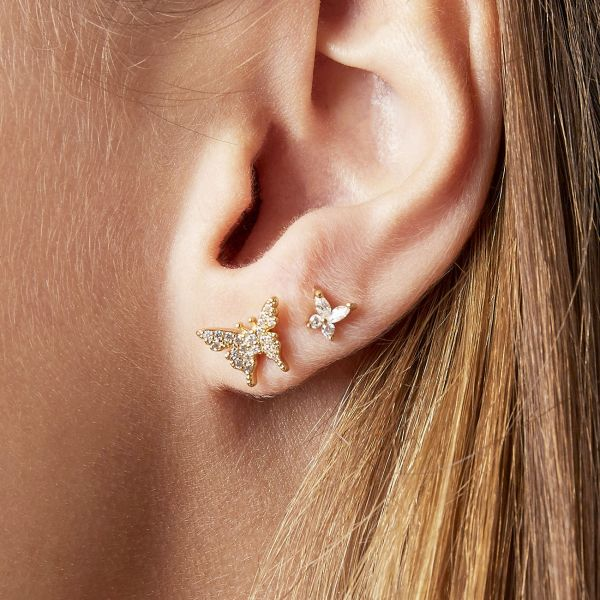 Boucles d'oreilles diamond butterfly