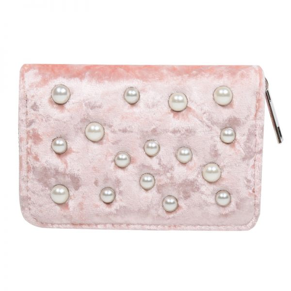 Wallet Velvet & Pearls