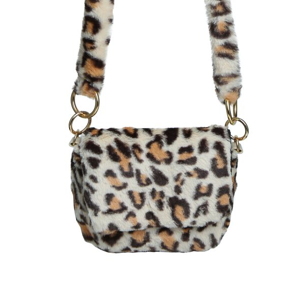 Bag fluffy leopard