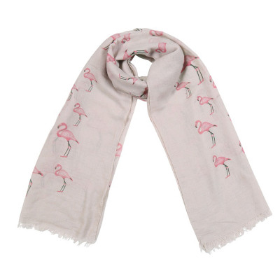 Scarf Flamingo Family
