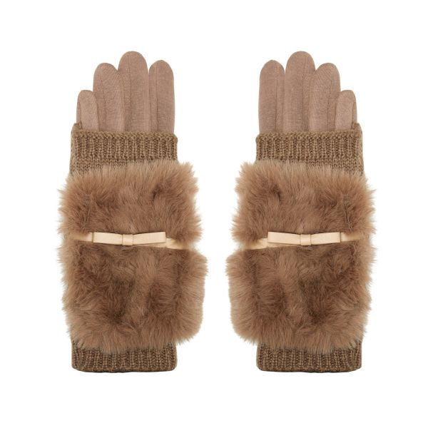 Gloves Furry Knit