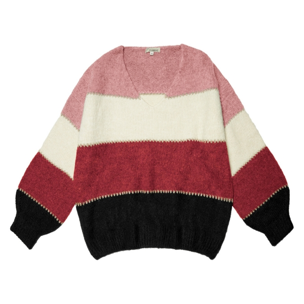 Pull-over winter stripes