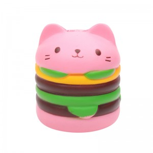 Squishy Toy Happy Cat Burger