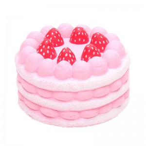 Squishy Toy Happy Pink Cake