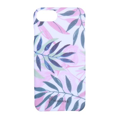 Phone Case iPhone 6/7/8 Pink Leaves