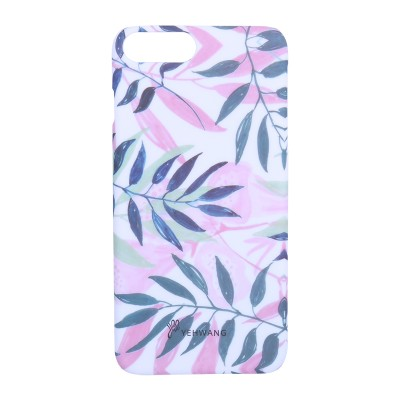 Phone Case iPhone 6/7/8 Plus Pink Leaves