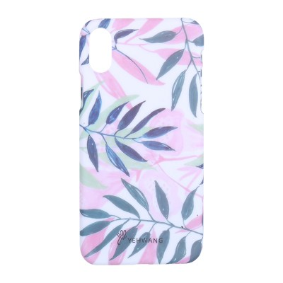 Phone Case iPhone X Pink Leaves
