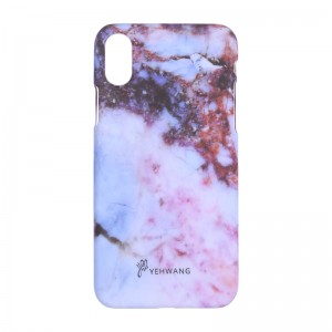 Phone Case iPhone X Red Marble