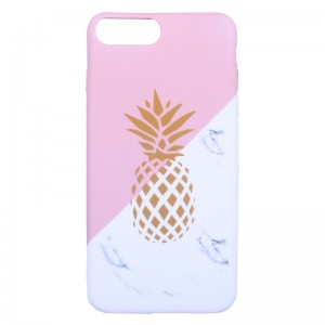 Phone Case iPhone 6/7/8 Plus Pineapple & Marble