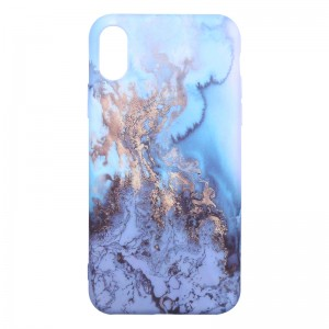 Phone Case iPhone X Blue Marble