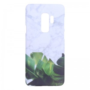 Phone Case Samsung Galaxy S9+ Leaves & Marble