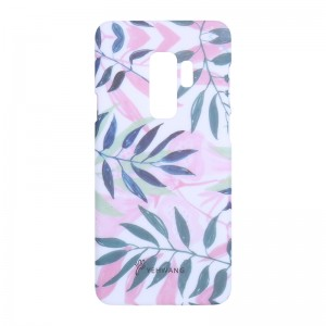 Phone Case Samsung Galaxy S9+ Pink Leaves