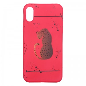Phone Case iPhone X Red Panther