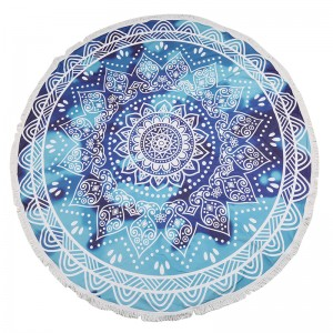 Beach Towel Blue Mandala