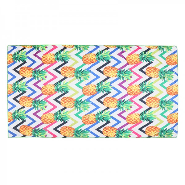 Beach Towel Long Funky Pineapples