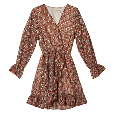 Dress Mini Wrap Autumn