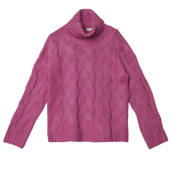Sweatshirt cable knit