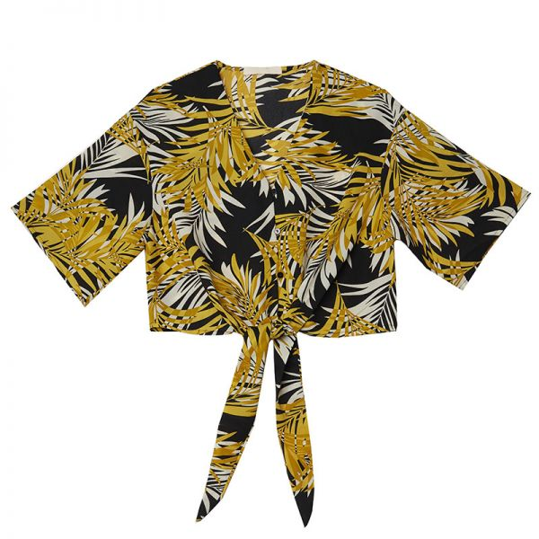 Crop Top Tropical Flower