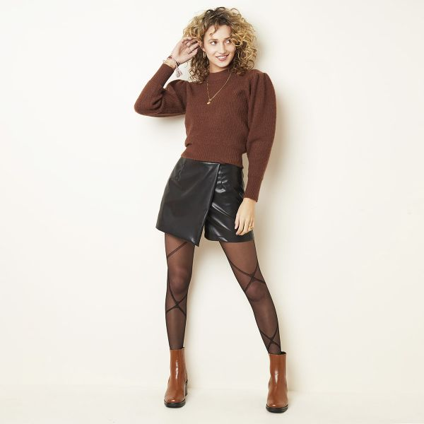 Skorts Leather Look