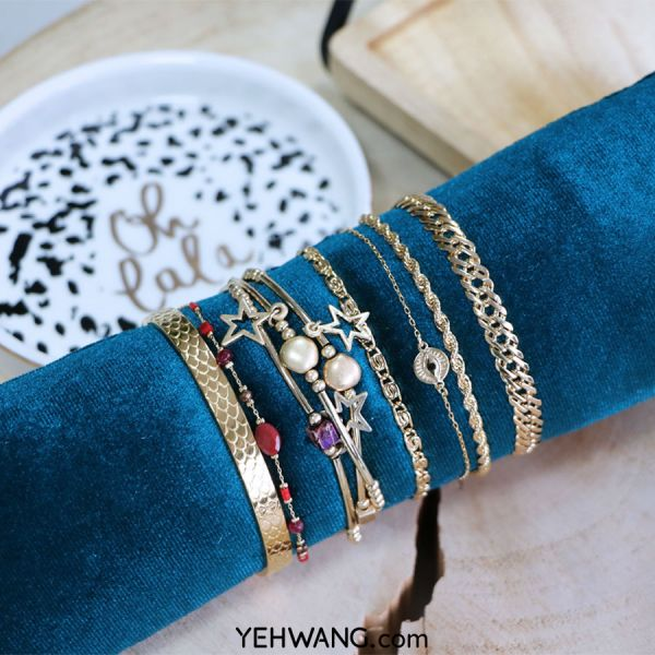 Display bracelets velvet colors ii