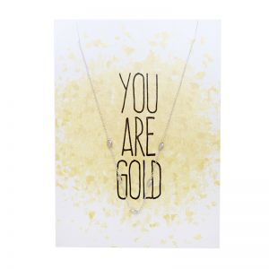 Postcard You are gold