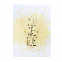 Postkarte You are gold