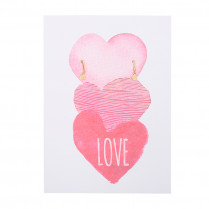 Postcard Three Hearts -Love-