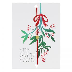 Postcard Meet Me Under The Mistletoe