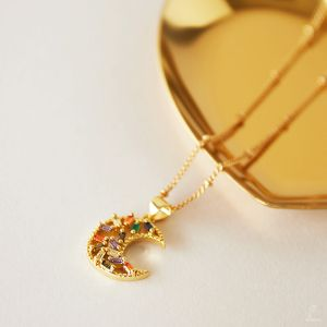 Necklace Zircon Moon