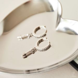 Earrings Arrow Rhinestones