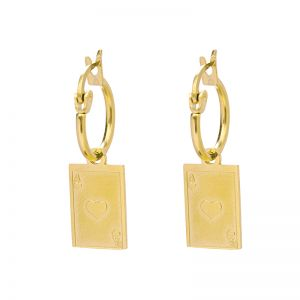 Earrings Ace of Hearts