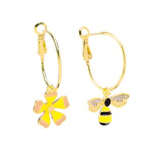 Boucles d'oreilles Flower and Bee