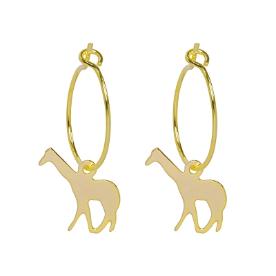 Earrings Basic Giraffe