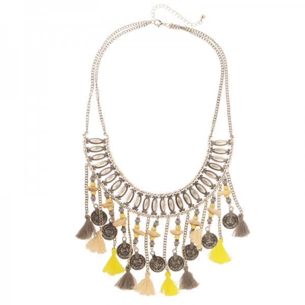 necklace yellow statement
