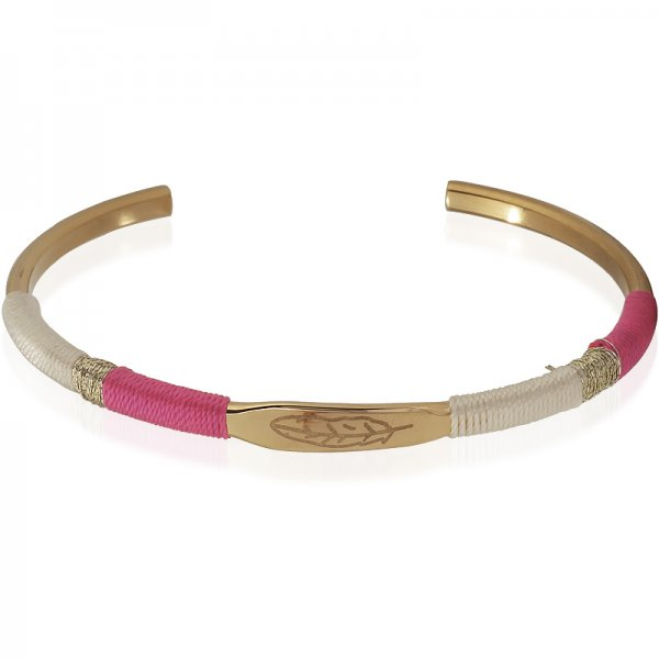 Armband Feather -taupe/pink-
