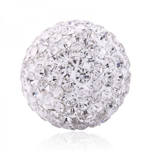 Ball Strass -silver- size 18