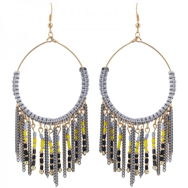 Earring jos -grey-
