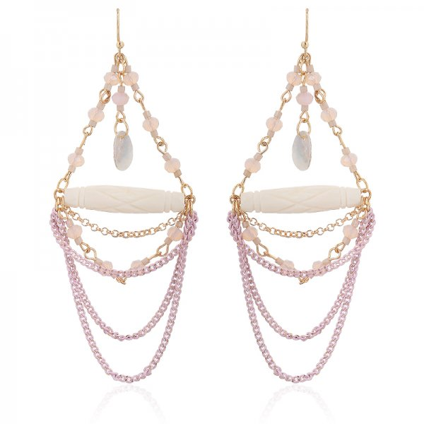 Earring loan -pink-