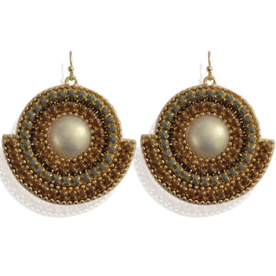 Earrings Bizy -taupe-