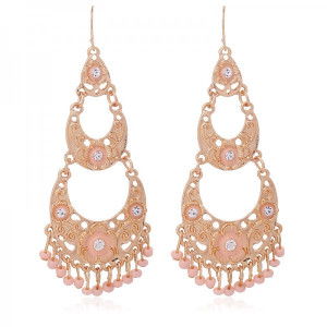Earrings Chand -pink-