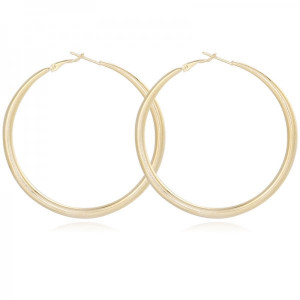 Earrings Circle #6 -gold-