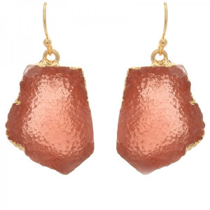 Earrings Gemstones -Red-
