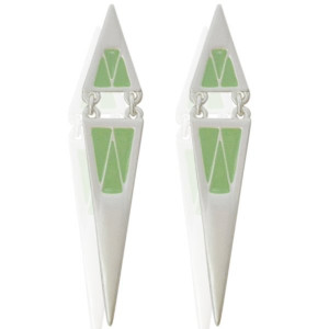 Earrings Punt -groen-