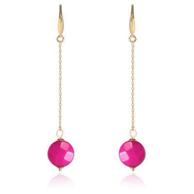 Earrings Trendy -pink-