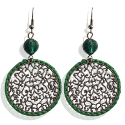 Earrings Yoka -green-