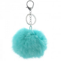 Fur key chain -mint-