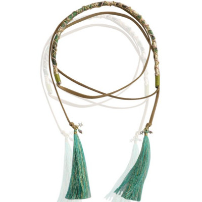 Necklace Down -green-